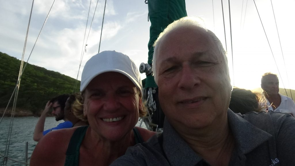 Susan Oropallo and Charles Oropallo on boat tour from St. Thomas